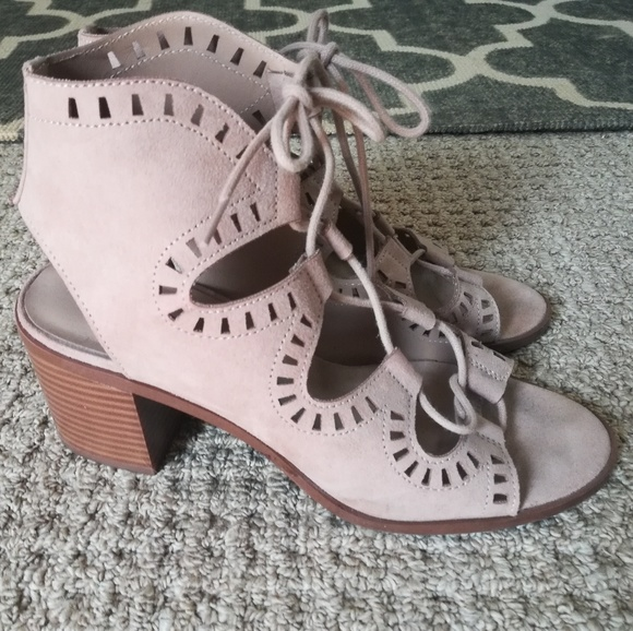 91cc0ecc9e Mossimo Supply Co. Shoes   Nude Faux Suede Gladiator Sandals Size 7 ...